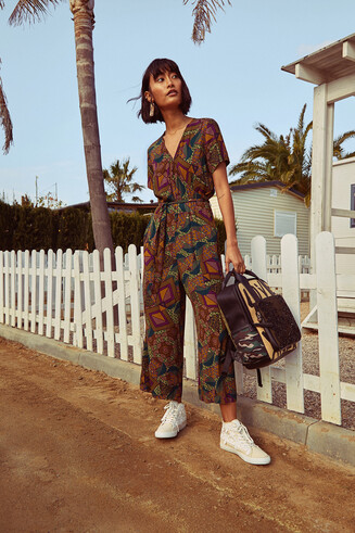 African geometric print jumpsuit