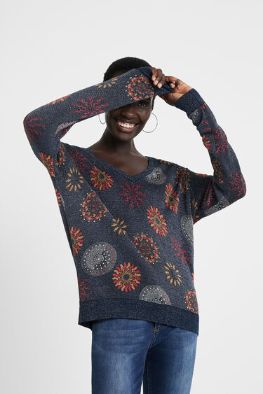 Knit jumper mandalas | Desigual