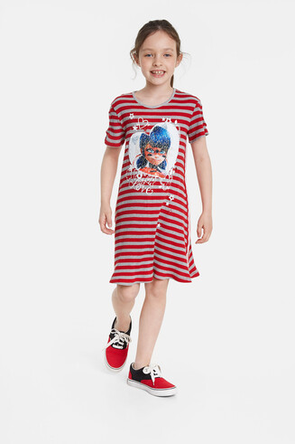 Ladybug-jurk met omkeerbare pailletten