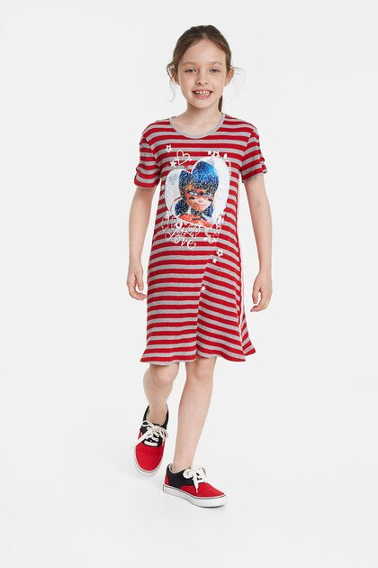 Ladybug reversible sequins dress