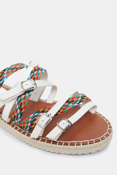 Platte sandalen met gesp en banden | Desigual