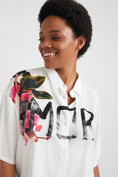 Short oversize shirt lettering | Desigual
