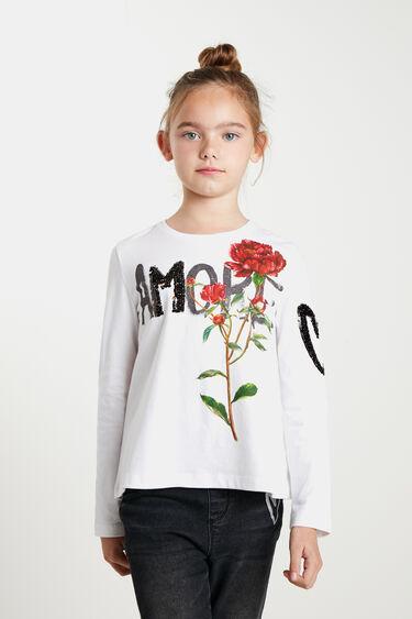 Samarreta flors lluentons | Desigual