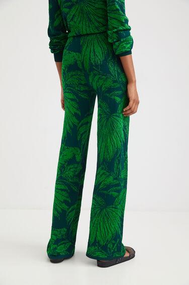 Jacquard wide leg trousers | Desigual