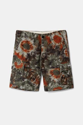 Spodnie typu cargo z efektem tie-dye