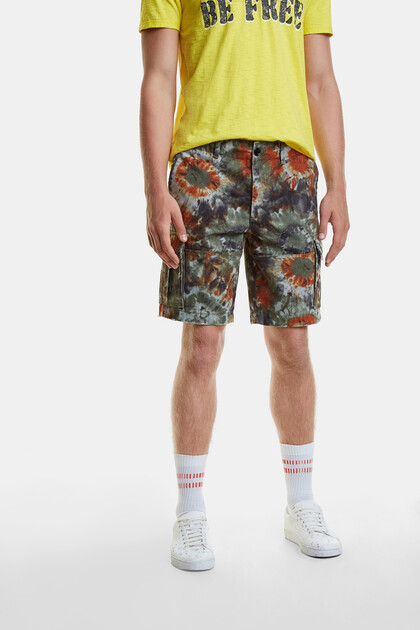 Cargo-Pants mit Batik