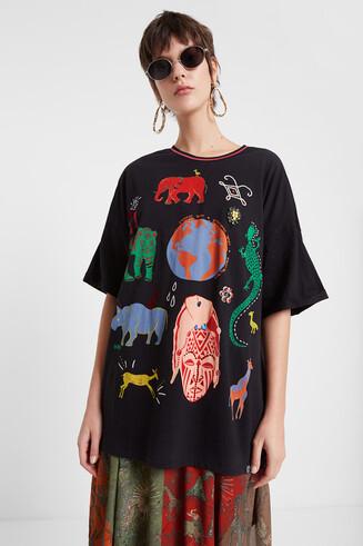 Oversize African print T-shirt