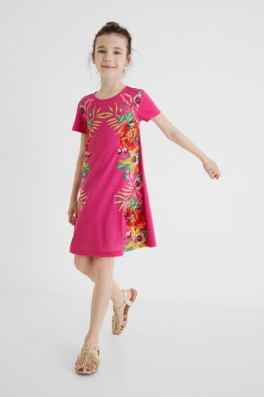 T-shirtjurk met bloemencascade | Desigual