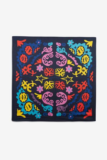 Square print scarf | Desigual