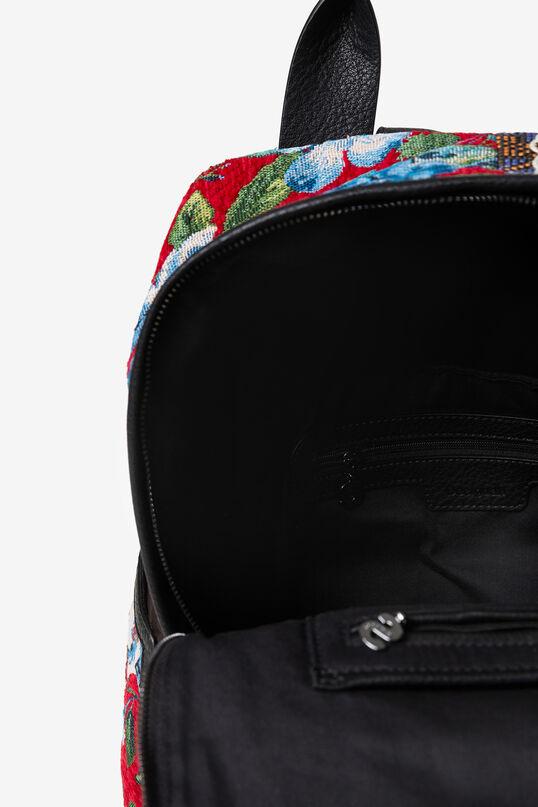 Tartan embroidered backpack | Desigual