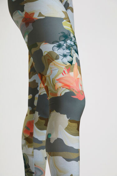 Legging print camouflage fleuri | Desigual