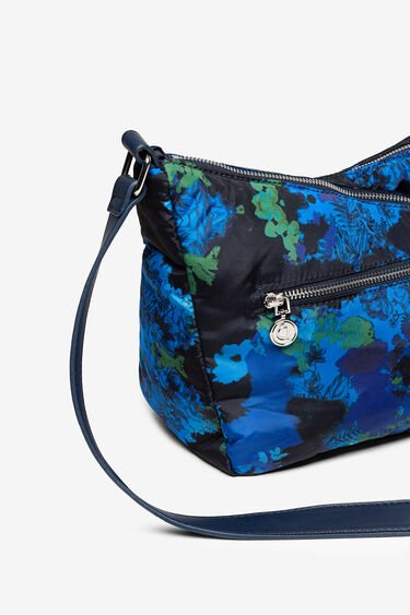 Padded sling bag with floral camouflage | Desigual
