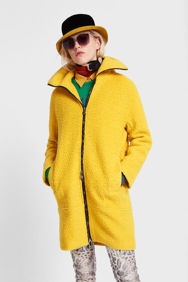 Turtleneck cloth coat | Desigual