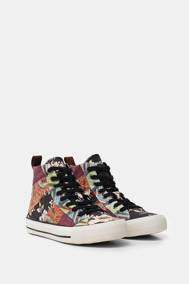 High top canvas sneakers | Desigual