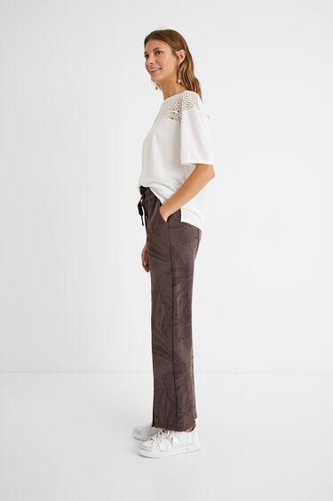 Jungle print comfort trousers | Desigual