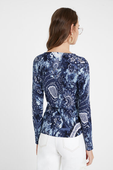 Large floral print sweater | Desigual