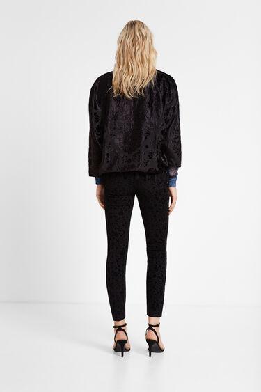 Skinny flocked trousers | Desigual