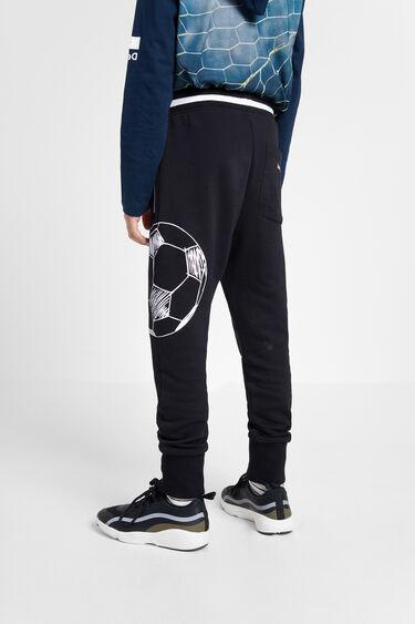 Printed plush jogger trousers | Desigual