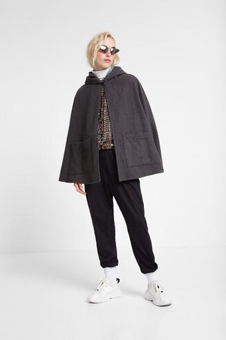 Cloth poncho hood