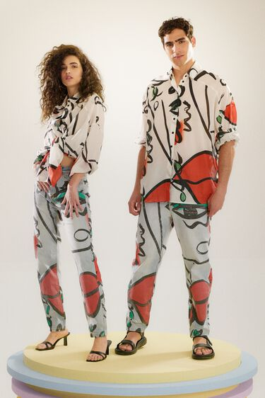 """Oversize shirt with """"El beso"""" print 