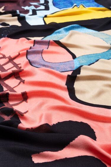 Rectangular arty foulard | Desigual