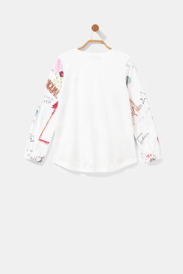 3D effect cotton T-shirt | Desigual