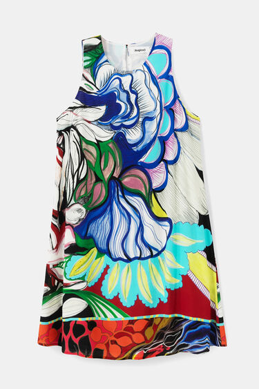 Short loose-fitting dress | Desigual