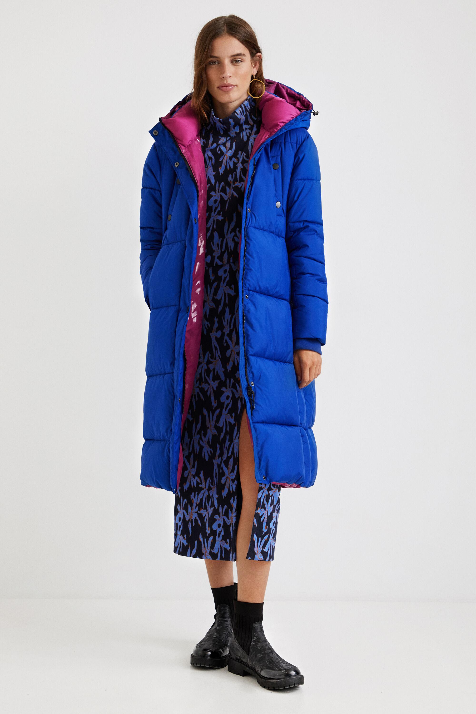Straight padded coat - BLUE - L