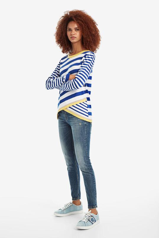 Diagonal Stripe Jumper Saligna | Desigual