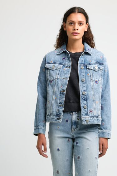 Jeansjacke im Slim Fit Mandalas   Desigual