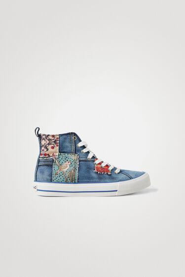 Sneakers montantes jean patch | Desigual