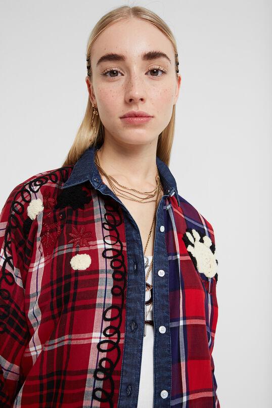 Denim tartan shirt | Desigual