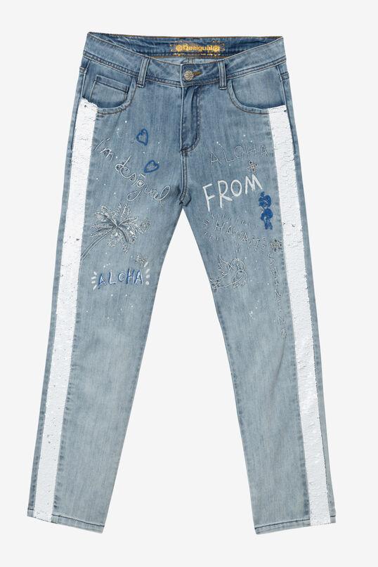 Jeans mit Pailletten Dublin | Desigual