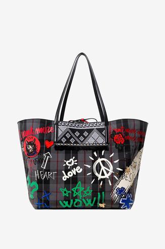 Reversible bag with mini-bag