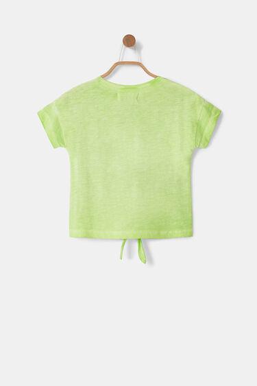 Katoenen T-shirt met knoop | Desigual
