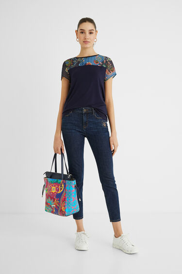 2 in 1 boho shopping bag | Desigual