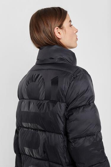 Long padded hooded jacket | Desigual