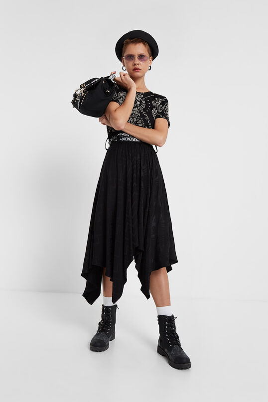Samarreta paisley Black & White | Desigual