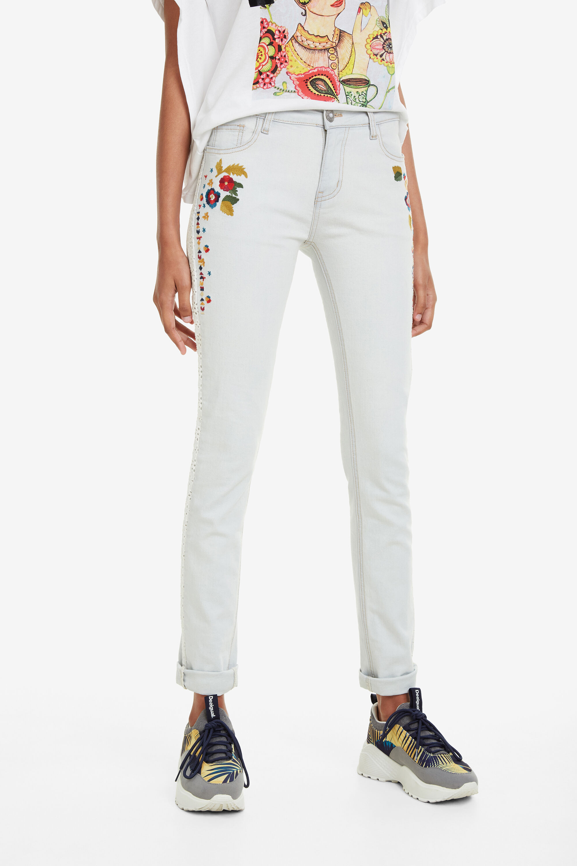 Pantaloni denim cropped bleach Volos | Desigual