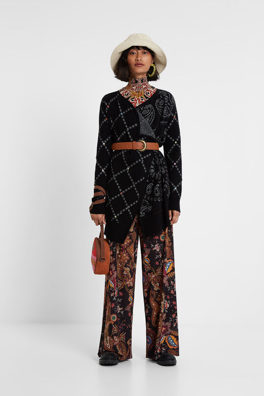 Pull ouvert style poncho | Desigual