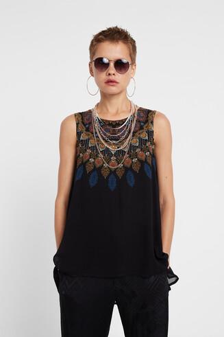 Asymmetrische Boho-Bluse