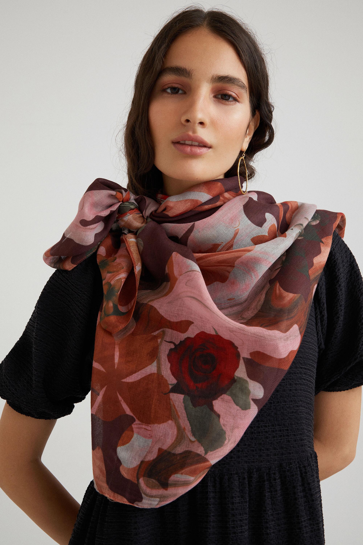 Grand foulard camoflower - RED - U
