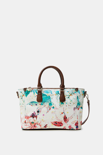Geblümte Handtasche