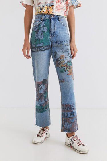 Straight Cropped Jeans Micky Maus | Desigual