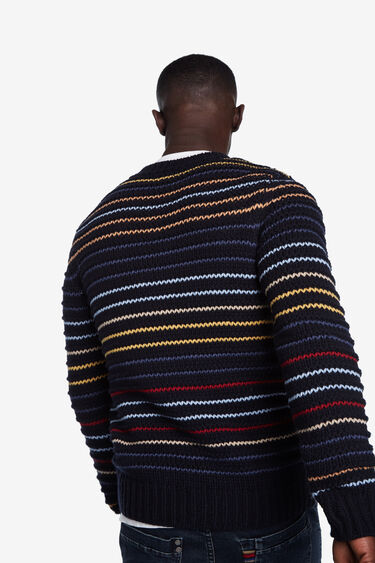 Tricot jumper multicolour stripes | Desigual