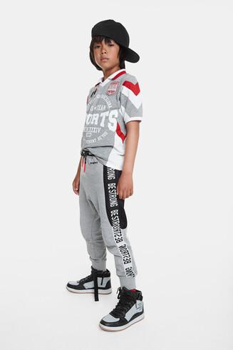 Sport baseball style polo shirt