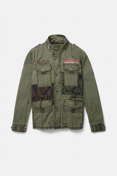Jaqueta militar patch estampats | Desigual