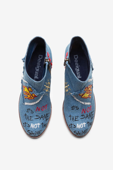 Block heel denim ankle boot | Desigual