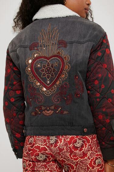 Oversize bimaterial denim jacket | Desigual