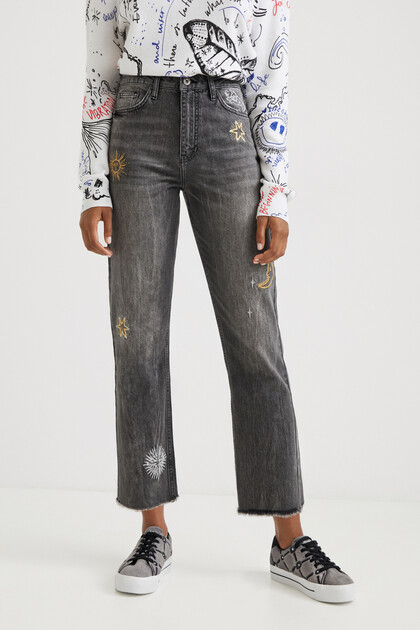 Cosmic straight cropped jeans